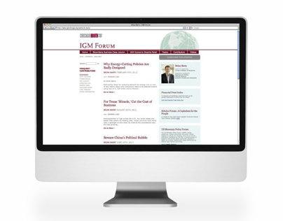 Initiative on Global Markets Forum Website