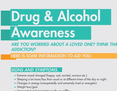 Drug and Alcohol awareness infographic.