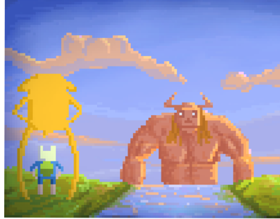 Adventure time pixel art