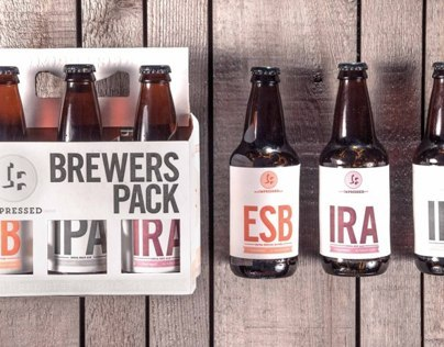 Impressed Brewing Company Letterpress Packaging