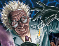 Mad Scientist Illustration