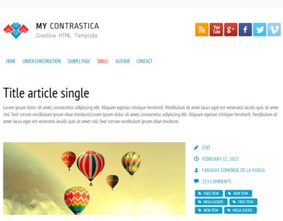 My Contrastica Free Under Construction WordPress Theme