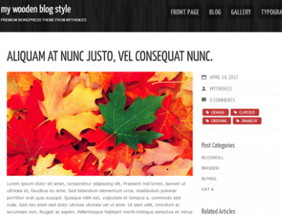 My Wooden Free WordPress Theme