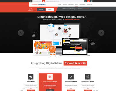 Graphics Designer Portfolio Web Design
