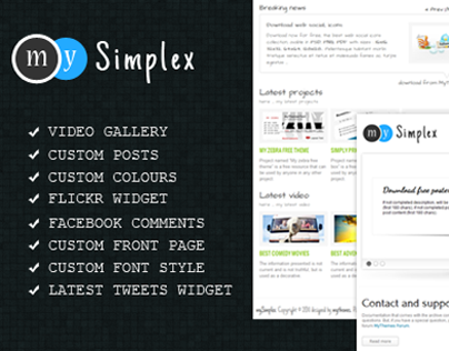 My Simplex WordPress Theme