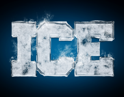 Ice typography
