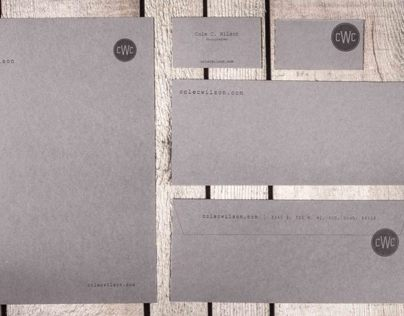 Photographer Letterpress Brand Identity Business System