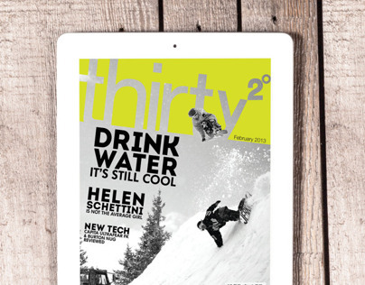 Thirty Two Degrees Digital Snowboard Magazine Rebrand