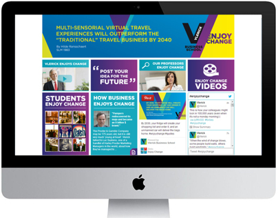 Enjoy Change campaign website Vlerick Business School