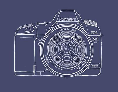 Canon 5D Mark II illustration