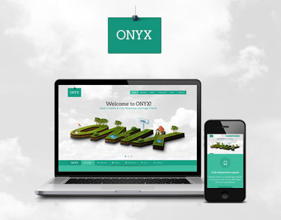 ONYX - Creative One Page Theme