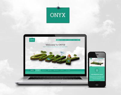 ONYX - Creative One Page Theme