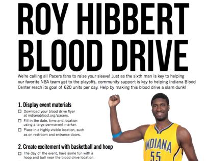 Roy Hibbert Blood Drive