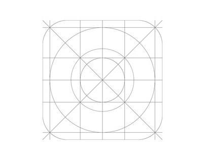 iOS7 Icon Grid Template