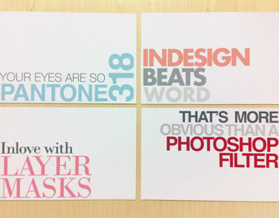 Postcards for graphic designers