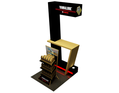yamalube product  display rack stand