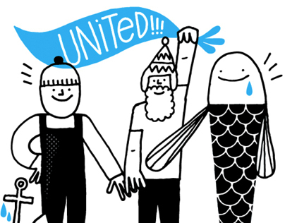 Greenpeace — Ocean brochure illustrations
