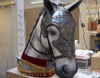 University Final Project, Horse Bust and Armour.