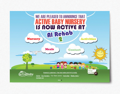 Active Baby Nursery home page.