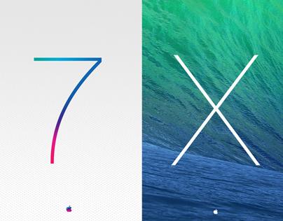 Mac OS X Mavericks & iOS 7 Wallpapers