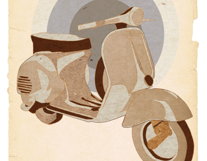 New Vespa illustration