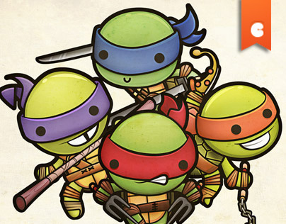 Kawaii Mutant Ninja Turtles