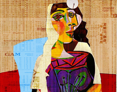 Picasso´s Women Collage Series