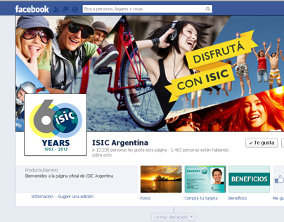 ISIC facebook layout