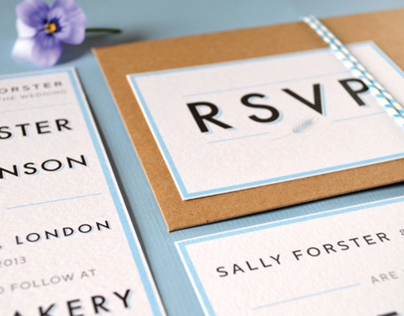 Bakery Wedding Stationery