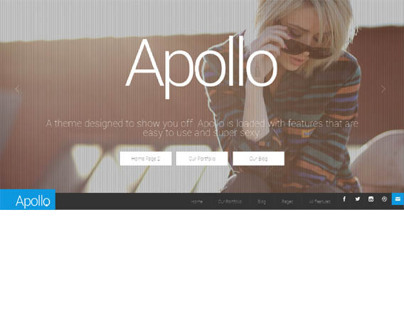 Apollo, Wordpress Responsive Showcase Theme