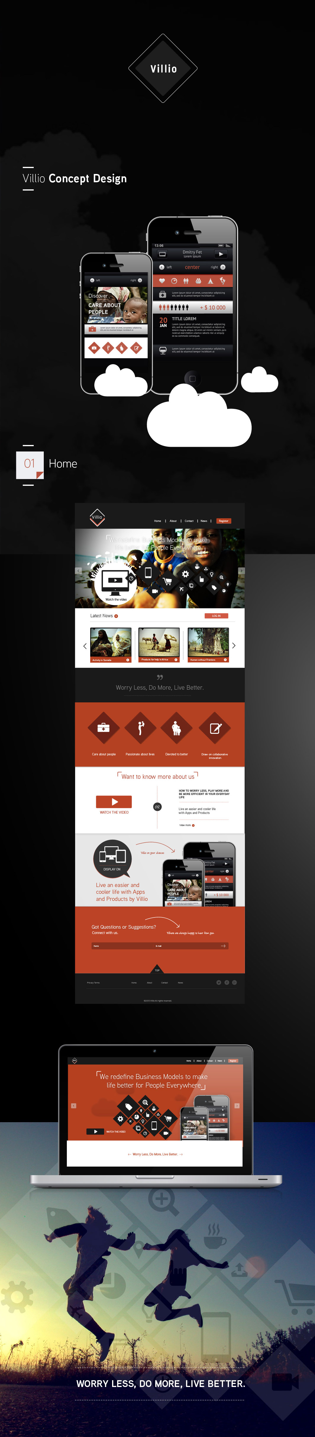 Villio / Website Interface Concept