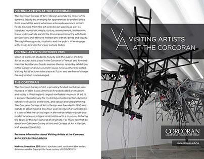 2013-2014 Visiting Artist Poster & Brochure