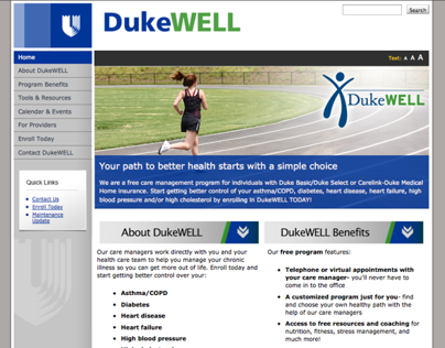 DukeWELL Website