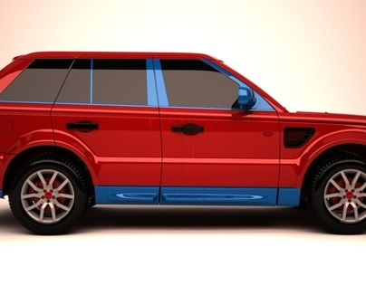 3d model range rover custum color