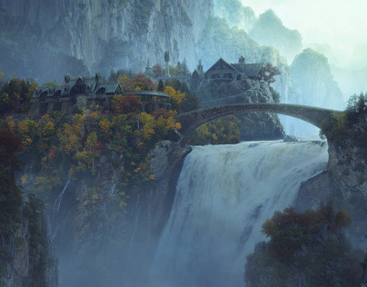 Rivendell Matte Painting