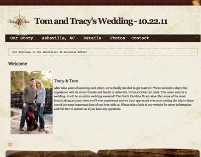Tom & Tracys Wedding Website