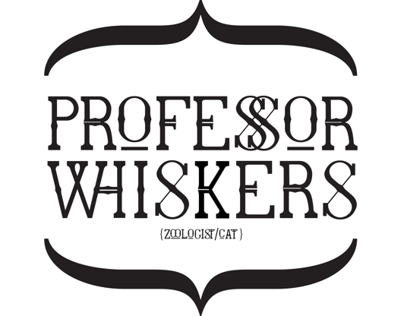 Professor Whiskers, typeface.