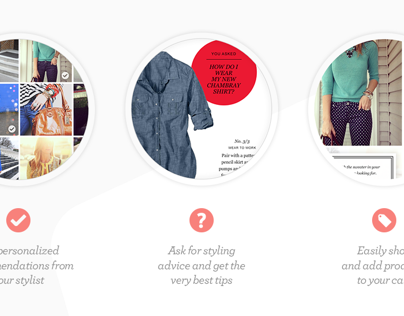 J. Crew Very Personal Stylist, Mobile App Pitch
