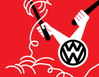 wok wagen. illustration