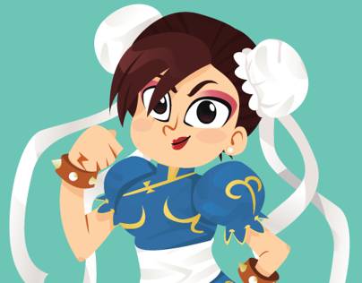 Street Fighter Vector - Chun Li