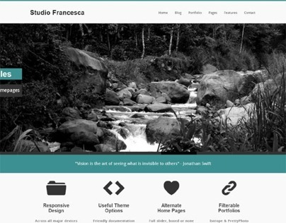 Francesca, Wordpress Simple Business Portfolio Theme