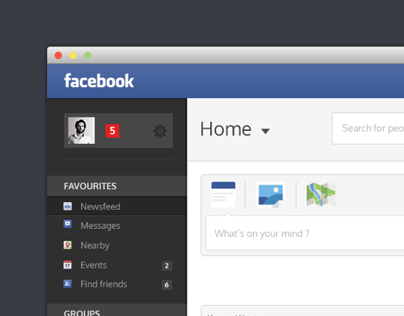 Facebook - Redesign of ui details