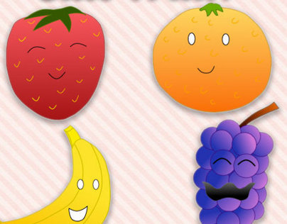 Cute Fruit Illustration by Squibble