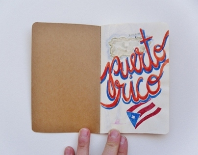 Puerto Rico mini sketchbook