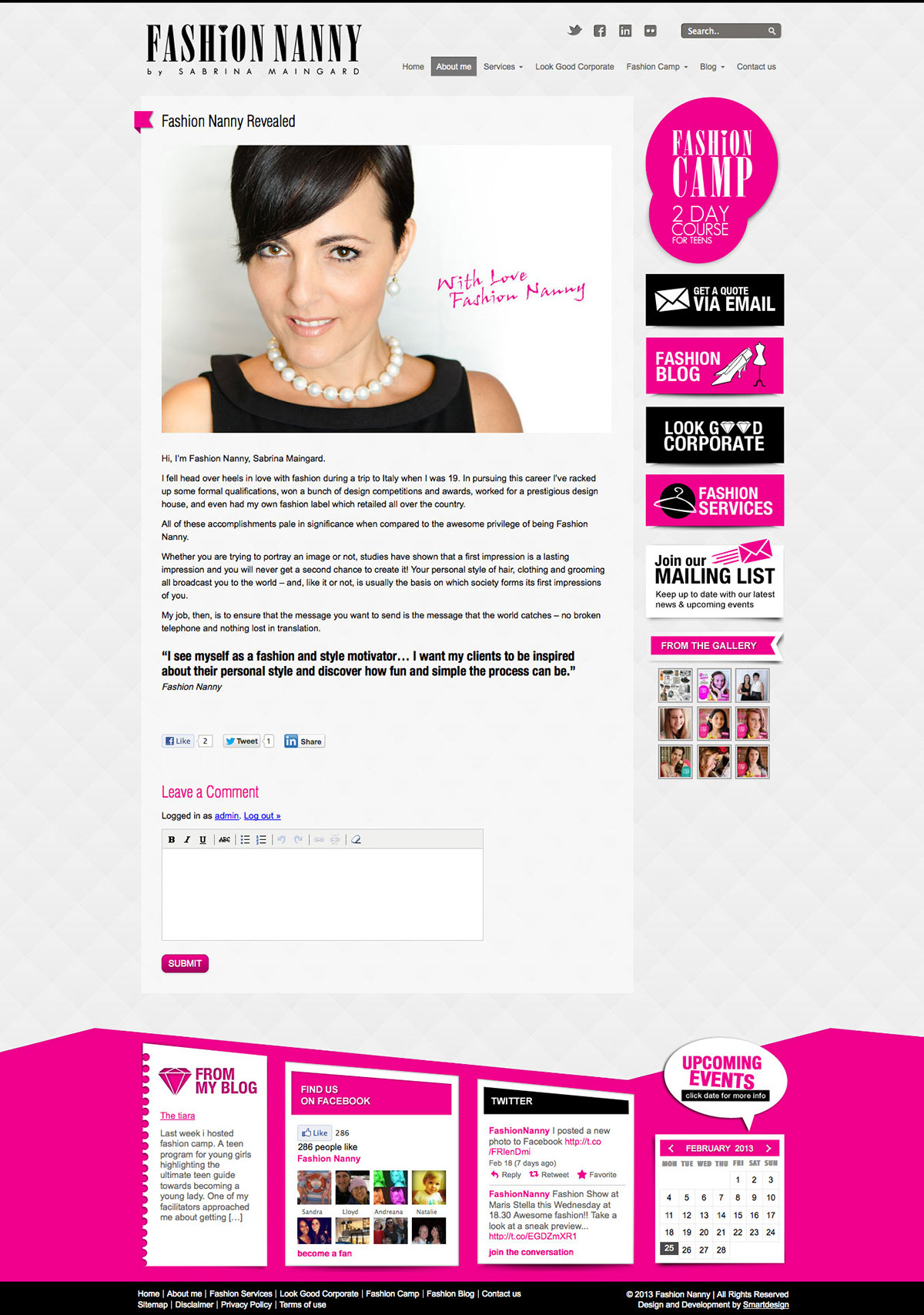 Design & Development of the Fashion Nanny Website