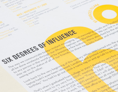 Six Degrees of Influence Poster / ROUGH Issue