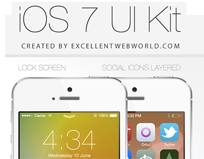 Download iOS7 UI Kit PSD