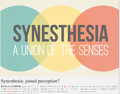Synesthesia : A union of the senses (Campaign)