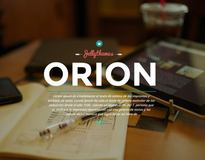 Orion  One Page Wordpress Template