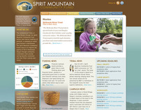 Website for Spirit Mountain Community Fund